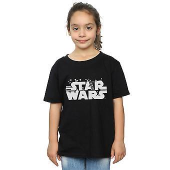 Star Wars tjejer minimalistisk Logo T-Shirt