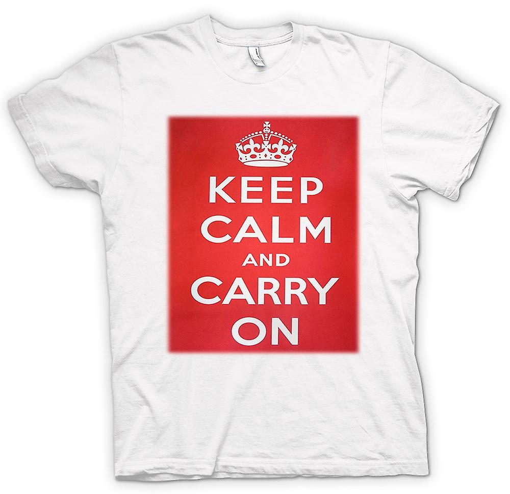 Womens T-shirt - Keep Calm And Carry On