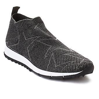 «Norvège» Jimmy Choo féminin tricot Slip Sneaker chaussure de course noir