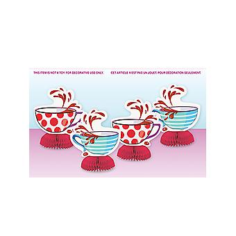 Mad Hatter Tea Party Mini honingraat decoraties