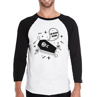 Dead Inside Coffin Halloween Baseball Shirt For Men Graphic Raglan