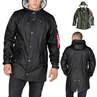 Impermeabile di fishtail giacca maschile Alpha industries