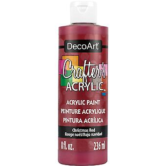 Crafter's Acrylic All-Purpose Paint 8oz-Christmas Red