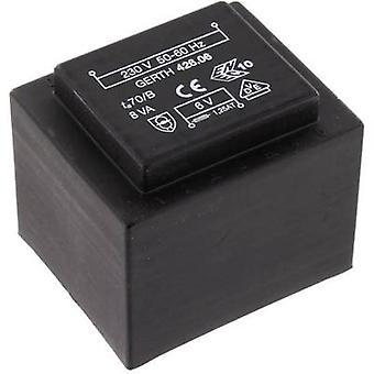 PCB mount transformer 1 x 230 V 1 x 15 V AC 8 VA 533 mA