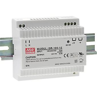 Mean Well DR-100-12 Rail mounted PSU (DIN) 12 Vdc 7.5 A 90 W 1 x