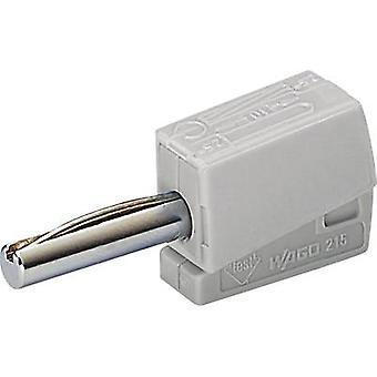 WAGO Jack plug Plug, straight Pin diameter: 4 mm Grey 1 pc(s)