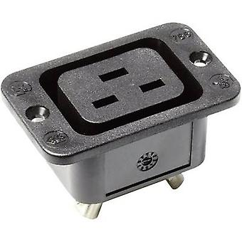 IEC connector 766 Series (mains connectors) 766 Socket, vertical vertical Total number of pins: 2 + PE 16 A Black Kaiser 766/63/sw/C 1 pc(s)