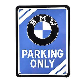 BMW parkering bare små metall signere 200 X 150 Mm
