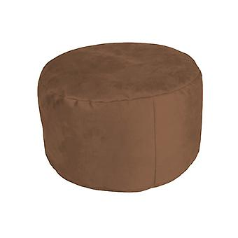 Stool seat footstool Pouffe about ALKA Brown 34 x 47 x 47 cm