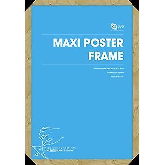 GB Posters 4 Oak Maxi Poster Frames 61x91.5cm Bundle