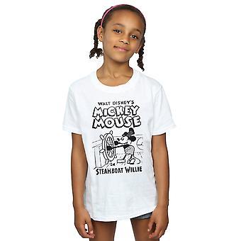 Disney Mickey Mouse Steamboat Willie T-Shirt für Mädchen
