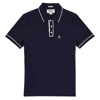 Original Penguin The Earl Polo Shirt - Dark Sapphire/Bright White
