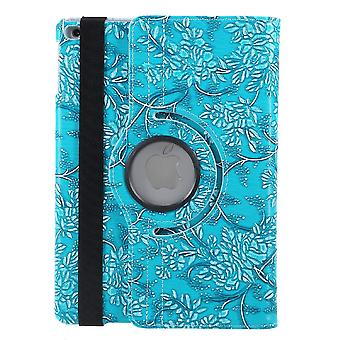 Cases iPad (2017)/iPad Air, 360 rotation Flowers-Blue