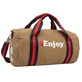 Light brown Weekender bag or a sports bag in hardwearing fabric