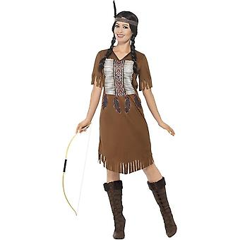 Native American Inspired Warrior Princess Costume, Large