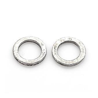 Pakke 30 x Antikk sølv tibetanske 12mm Donut Spacer perler HA17215