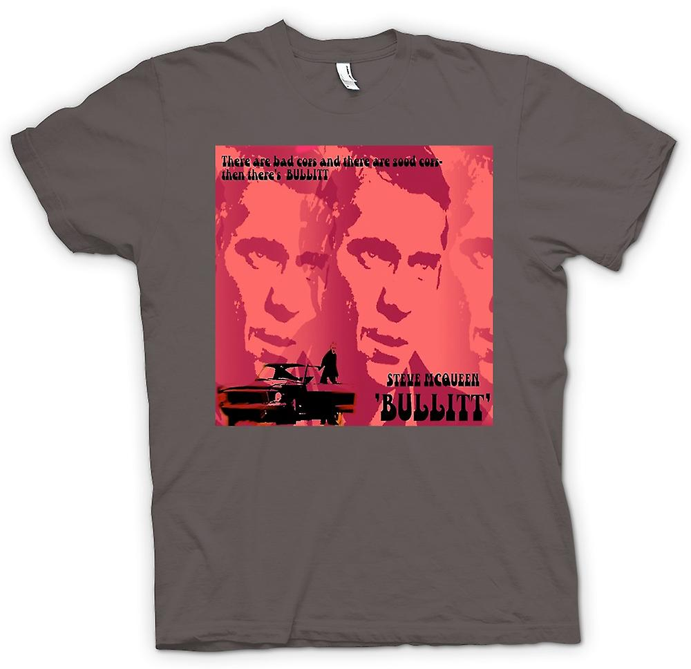Womens T-shirt - Steve McQueen Bullit Good Cop