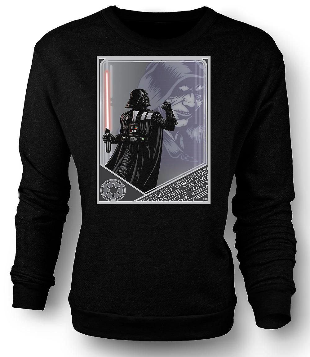 Mens Sweatshirt Darth Vader & Palpatine - japansk