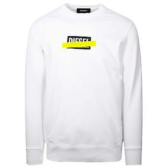 Diesel Diesel White Cross-out Logo Sweatshirt