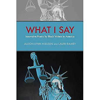 What I Say: Innovative Poetry by Black Writers in America (Modern and Contemporary Poetics)