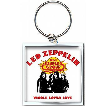 Led Zeppelin Whole Lotta Love metall nøkkelring (ro)