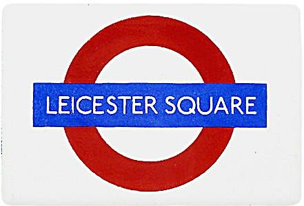 Leicester Square London Underground Roundel small enamel sign (gg)