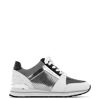 Michael Kors Silver/white Leather Sneakers