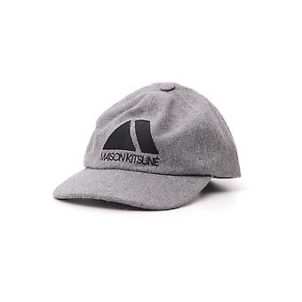 Maison Kitsune grå uld Hat