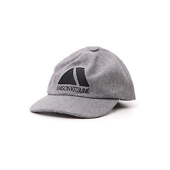 Maison Kitsuné Grey Wool Hat