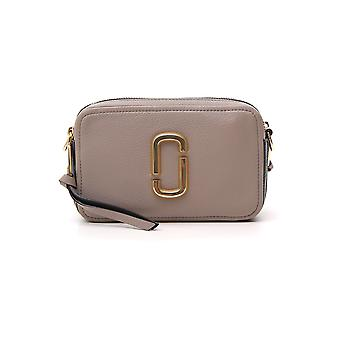 Marc Jacobs The Mj 21 Grey Leather Shoulder Bag