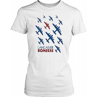 Lancaster Bombers of World War II In The Sky - Royal Air Force Ladies T Shirt