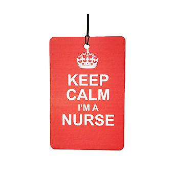 Keep Calm jeg en sygeplejerske bil luftfriskere