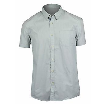 Quiksilver Mens Everyday Wilsden Short Sleeve Shirt - Chinois Green