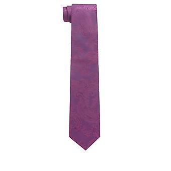 Dobell Boys Purple Paisley Tie Satin Feel Fabric Wedding Necktie