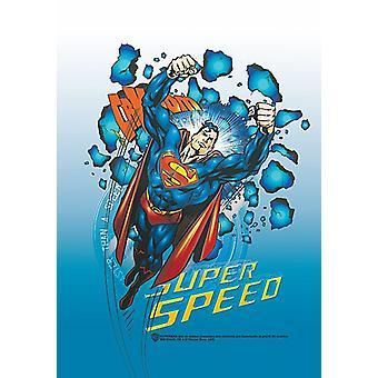 Supermann Super hastighet store stoff plakat/flagg 1050 x 750 mm (hr)