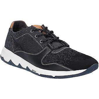 Hush Puppies Mens Field Knit Lace Up Active Fashion Trainers