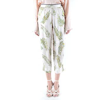 Forte_forte White/green Silk Pants