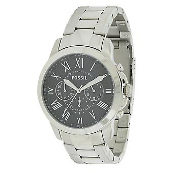 Fossil Grant Stainless Steel Chronograph Mens Watch FS4736