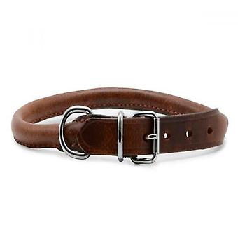Ancol Round Leather Dog Collar