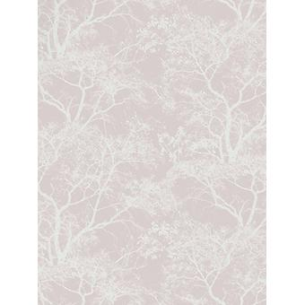 Hviske trær Wallpaper-Dusky Pink-Holden decor 65400