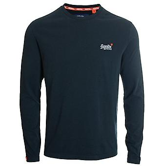 Superdry Orange Label Vintage Embroidery L/s T-shirt Eclipse Navy