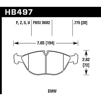 Hawk prestaties HB497Z. 776 PC