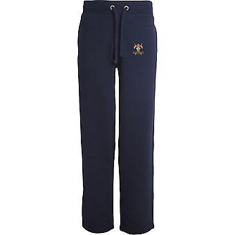 9e 12e Royal Lancers Veteran - Licensed British Army Embroidered Open Hem Sweatpants / Jogging Bottoms