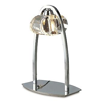 Mantra Alfa Large Table Lamp 1 Light G9, Polished Chrome