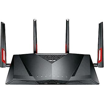 Asus dsl-ac88u router/modem adsl2/2 +/vdsl2 wi-fi dual-band 1,200 mbps 4 port lan 10/100/1000 mbps support 3g/4g black color