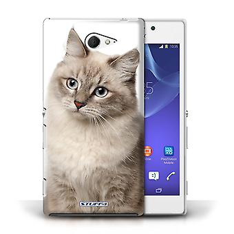 STUFF4 Phone Case / Cover for Sony Xperia M2 / Siberian Design / Cat Breeds Collection