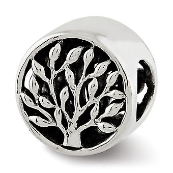 925 Sterling Argent Poli Antique finition Reflections Tree Bead Charm