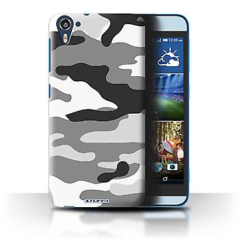 STUFF4 Case/Cover for HTC Desire 826/White 2/Camouflage Army Navy