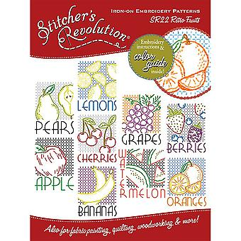Stitcher's Revolution Iron On Transfers Retro Fruit Sr 22