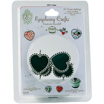 Epiphany Craft Heart 25 Metal Charms Ec15 47